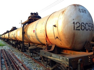Train carrying liquid petroleum