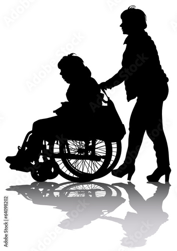 Wheelchair and women
