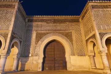 Bab Jama en Nouar door at Meknes, Morocco