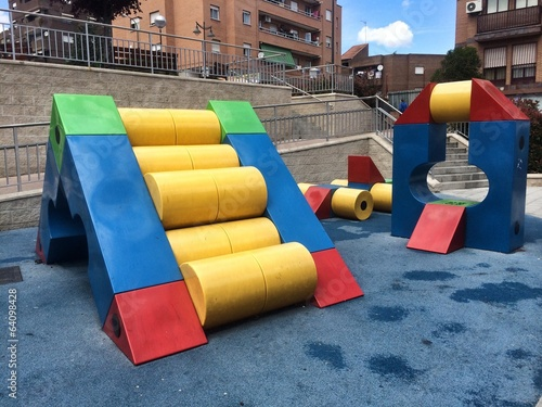 a playground full of colours