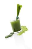 Detox. Green food supplement. poster