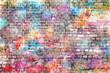 Leinwandbild Motiv Colorful grunge art wall illustration, background