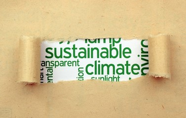 Sustainable climate concept