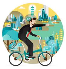 Green business economy Concept Vector