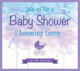 Baby Shower Watercolor Invitation