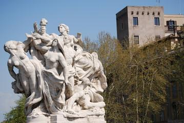 Sculpture at Vittorio Emanuele II Bridge, Rome