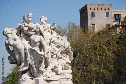 Sculpture at Vittorio Emanuele II Bridge, Rome