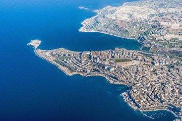 Bugibba in Malta as seen from the air