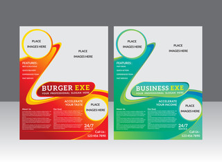 abstract multiple flyer template