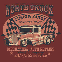 North truck/ Scratches are available in a separate layer