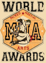 Mixed martial arts/ Scratches are available in a separate layer