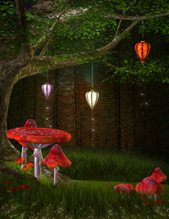 Enchanted nature series - Hill of lanterns