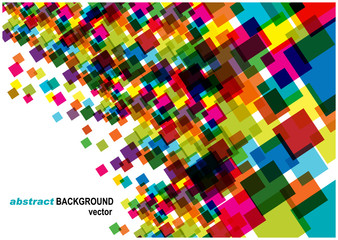 modern vector background with bright squares
