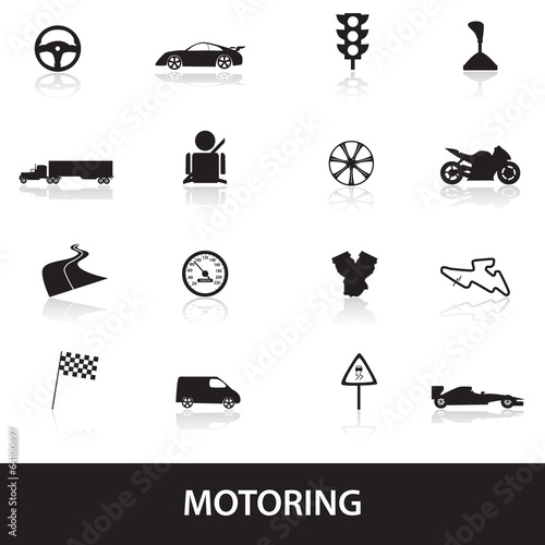 motoring icons eps10
