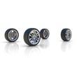 four car wheels