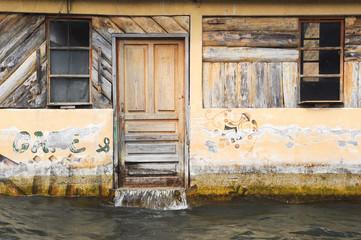 Flooded house at San Juan on lake Atitlan