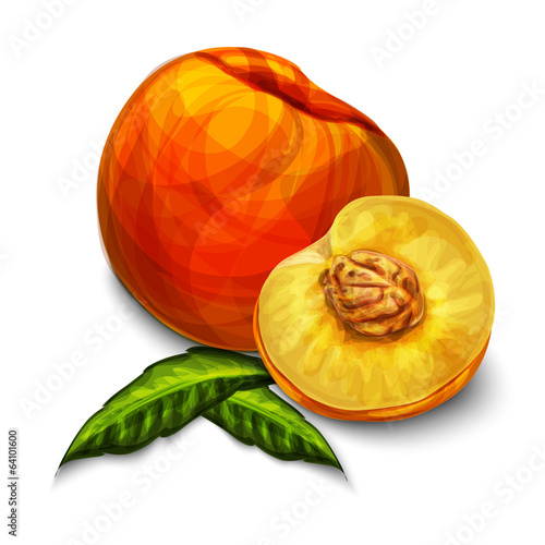 Orange natural organic peach fruit