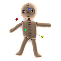 realistic 3d render of voodoo doll