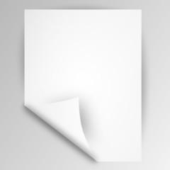 zettel blatt papier weiß