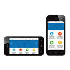 mobile phone responsive webdesign on white background