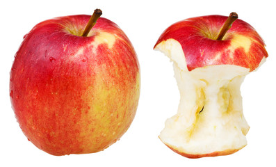 core and whole wealthy apple