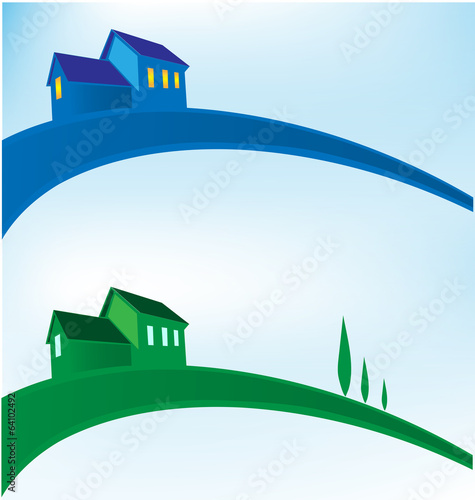 landscape house background