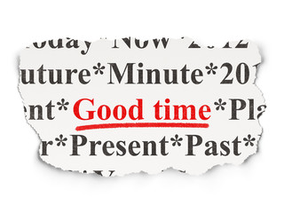 Time concept: Good Time on Paper background