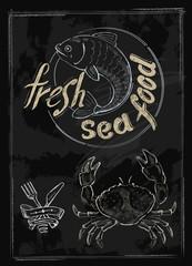 vector fresh sea food