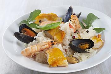 French, seafood sauerkraut dish