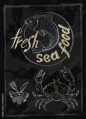 vector fresh sea food