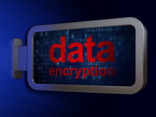 Safety concept: Data Encryption on billboard background