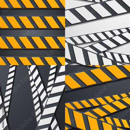 Set of abstract racing backgrounds
