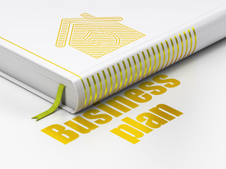 Business concept: book Home, Business Plan on white background
