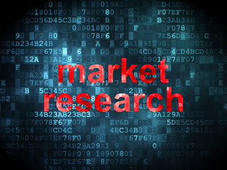 Advertising concept: Market Research on digital background