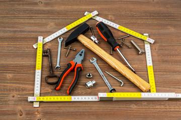 Werkzeug in der Werkstatt