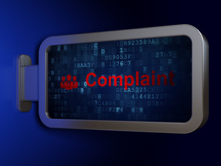 Law concept: Complaint and Business People on billboard