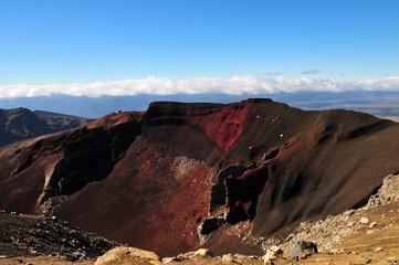 Cratère rouge néo-zélandais.