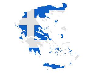 Karte und Fahne von Griechenland