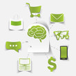 concept for online shopping: brain