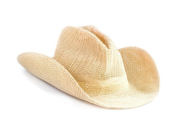 Brown weaving hat isolated on white background