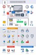 Business icons info graphics, Flat style