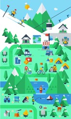 mountain & camping info elements