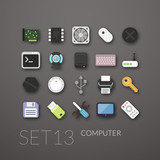 Fototapety Flat icons set 13