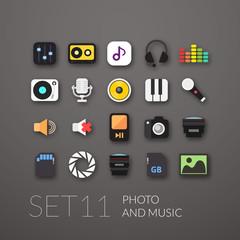 Flat icons set 11
