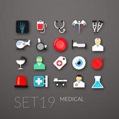 Flat icons set 19