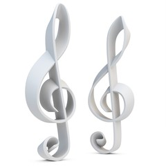 3d blank material treble Clef
