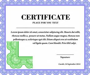 Diploma Guilloche / Certificate template (design)