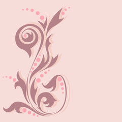 Vintage style abstract background in pastel colors