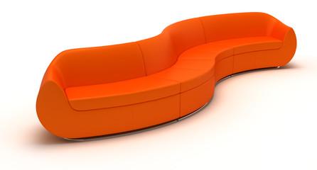 Orange Sofa
