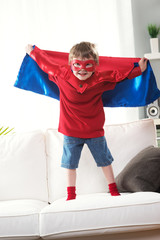 Little superhero with super powers